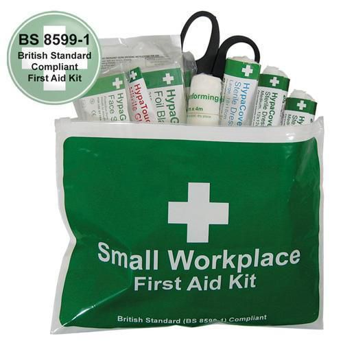 British Standard Compliant Small First Aid Kit in Vinyl Wallet
