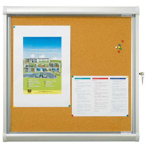 Stylish Indoor Enclosed Cork Bulletin Board Manutan Uk