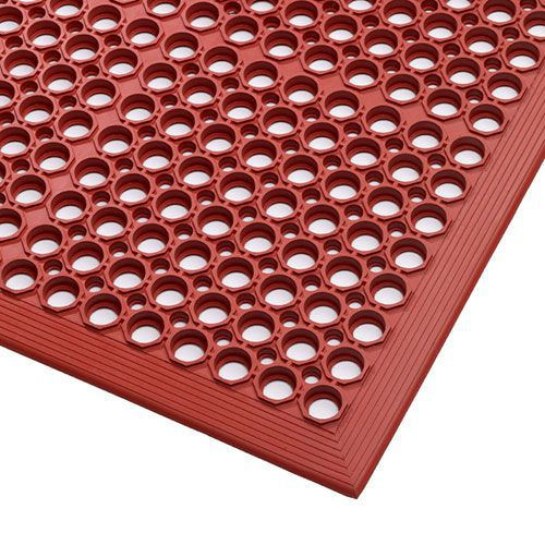 Red Nitrile/Rubber Anti-Slip Safety Food Processing Mat