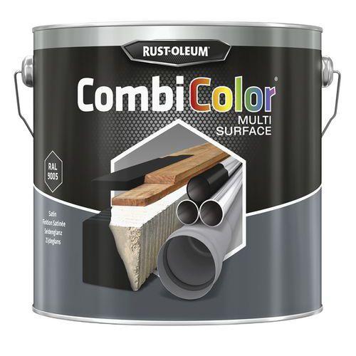 Multi-surface black satin paint - 0.75 L et 2.5 L - Rust-Oleum