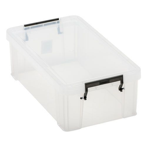 Manutan 5.8L Box Clear with Grey Handles