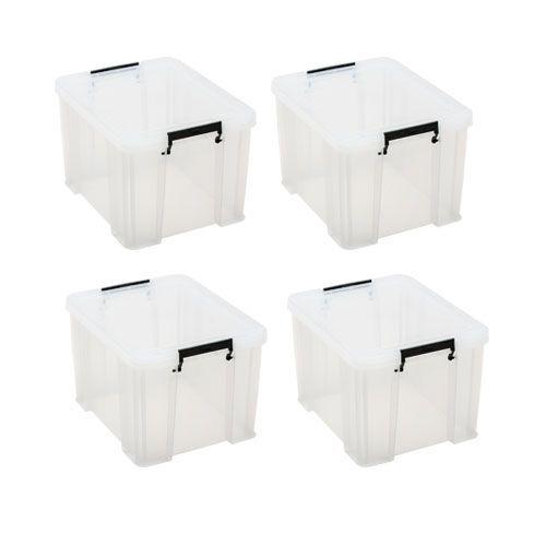 Manutan 36L Box Clear - Buy 3 get 1 FREE