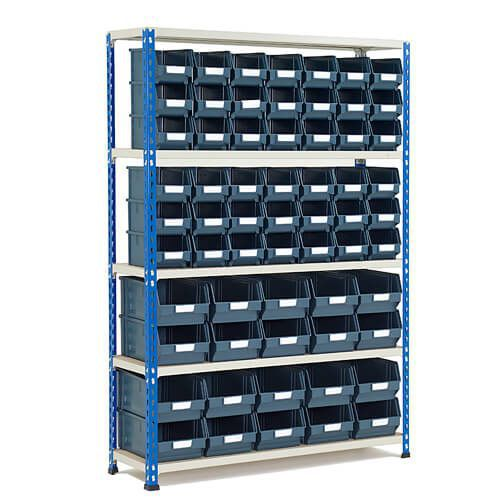 Rapid 2 Shelving Bay (1600h x 1120w) With 62 Picking Bins