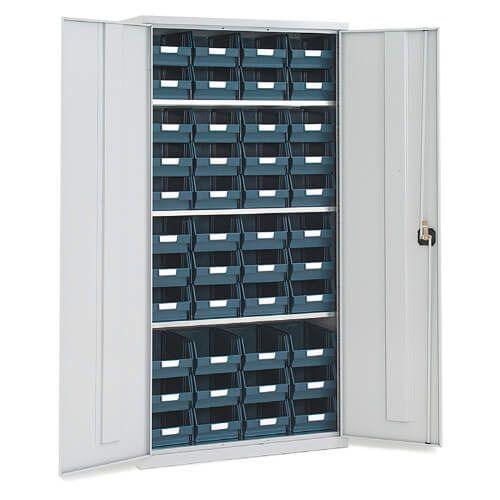 Lockable Bin Cupboard complete - 44 Bins