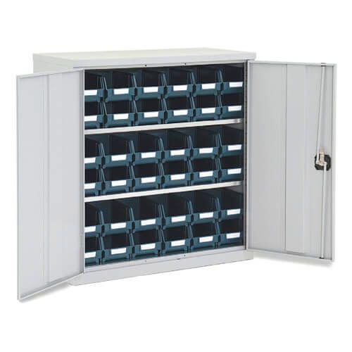 Lockable Bin Cupboard complete - 36 Bins