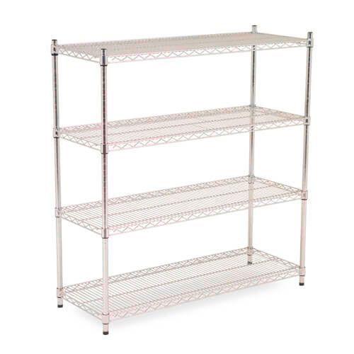 Chrome Wire Shelving - 4 shelves - 1600h x 1220w