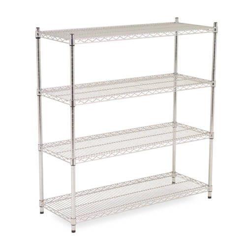 Chrome Wire Shelving - 4 shelves - 1600h x 1830w