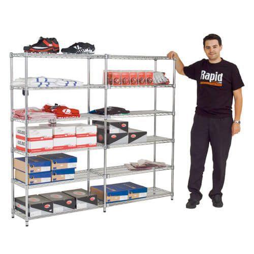 Pair of Additional Chrome Shelves (1830w)