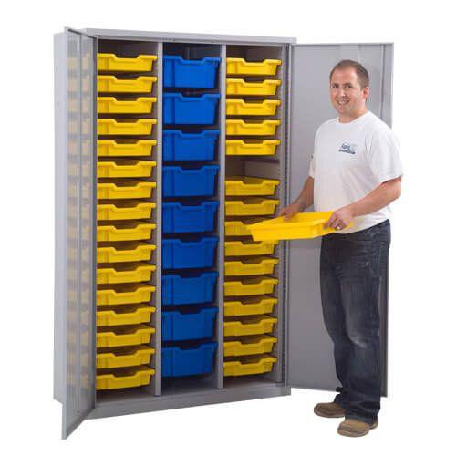 Lockable Cupboard - 41 Gratnells Trays