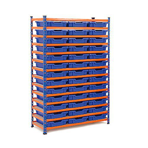 Rapid 2 (1600h x 1020w) Shelving Bay With 39 Shallow Gratnells Trays