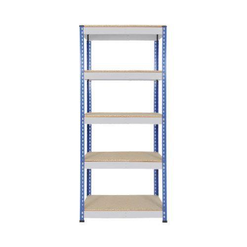 Rapid 1 Heavy Duty Shelving (1980h x 915w) Blue & Grey - 5 Chipboard Shelves
