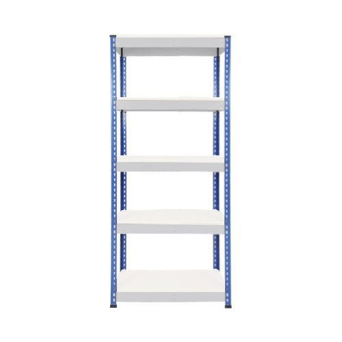 Rapid 1 Heavy Duty Shelving (1980h x 915w) Blue & Grey - 5 Melamine Shelves