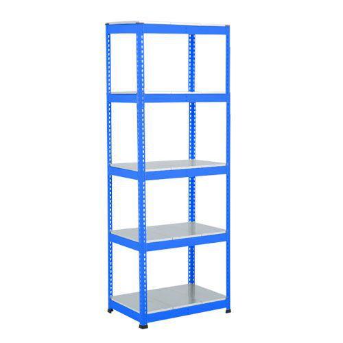 Rapid 1 Heavy Duty Shelving (1980h x 915w) Blue - 5 Galvanized Shelves