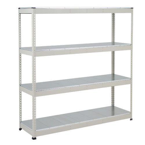 Rapid 1 Heavy Duty Shelving (1980h x 1220w) Grey - 5 Galvanized Shelves