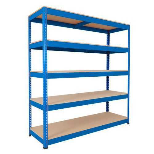 Rapid 1 Heavy Duty Shelving (1980h x 1220w) Blue - 5 Chipboard Shelves
