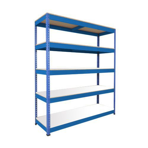 Rapid 1 Heavy Duty Shelving (1980h x 1525w) Blue - 5 Melamine Shelves