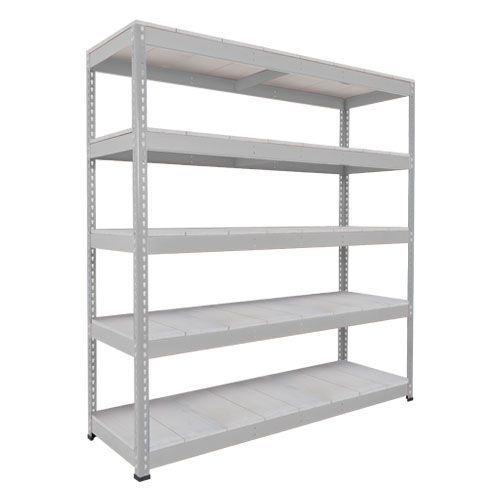 Rapid 1 Heavy Duty Shelving (1980h x 1525w) Grey - 5 Galvanized Shelves