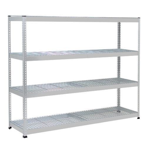 Rapid 1 Heavy Duty Shelving (1980h x 1830w) Grey - 4 Wire Mesh Shelves