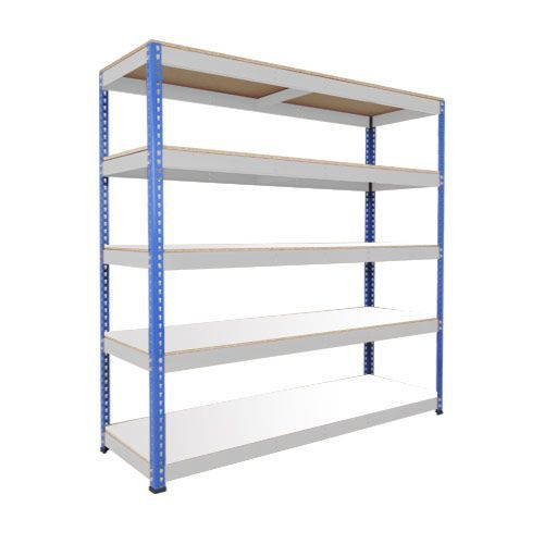 Rapid 1 Heavy Duty Shelving (1980h x 2440w) Blue & Grey - 5 Melamine Shelves