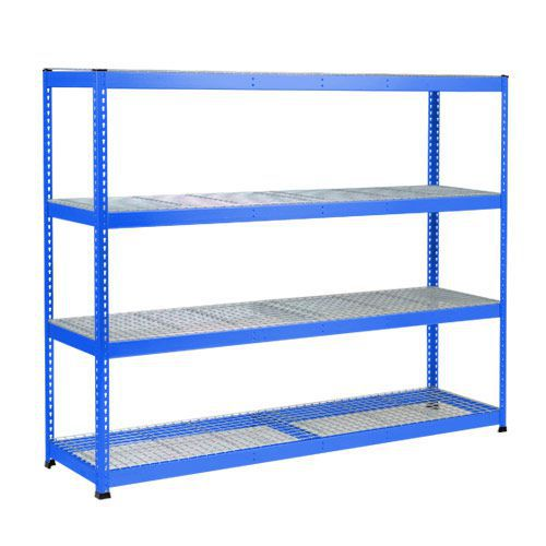 Rapid 1 Heavy Duty Shelving (1980h x 2440w) Blue - 4 Wire Mesh Shelves