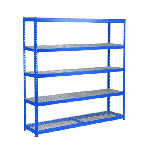 Rapid 1 Heavy Duty Shelving (1980h x 2440w) Blue - 5 Wire Mesh Shelves