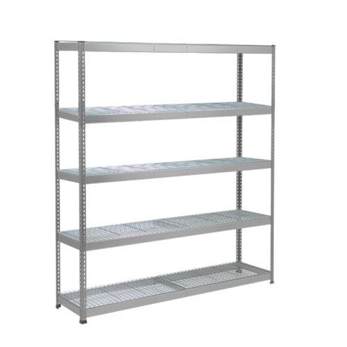 Rapid 1 Heavy Duty Shelving (1980h x 2440w) Grey - 5 Wire Mesh Shelves