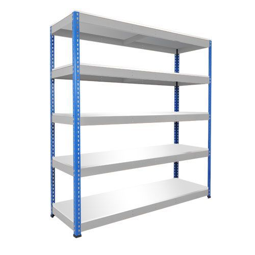 Rapid 1 Heavy Duty Shelving (2440h x 1525w) Blue & Grey - 5 Melamine Shelves