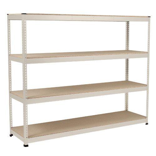 Rapid 1 Heavy Duty Shelving (2440h x 2134w) Grey - 4 Chipboard Shelves