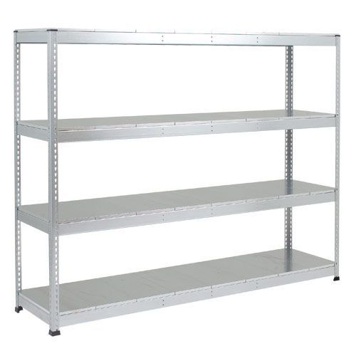 Rapid 1 Heavy Duty Shelving (2440h x 2134w) Grey - 4 Galvanized Shelves