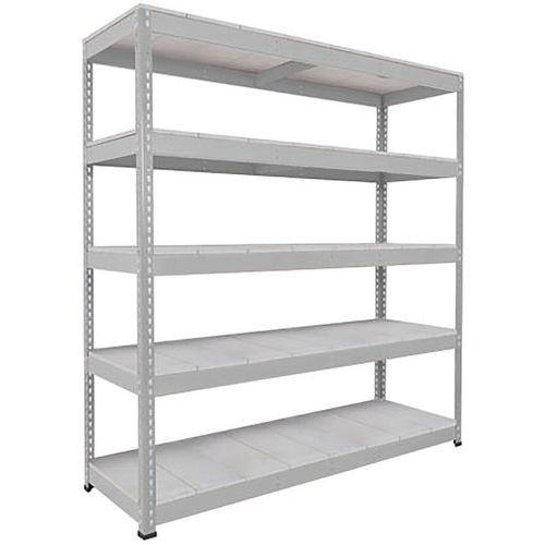 Rapid 1 Heavy Duty Shelving (1980h x 2440w) Grey - 5 Galvanized Shelves