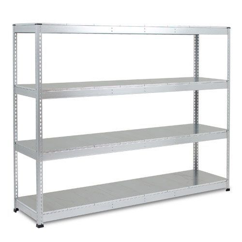 Rapid 1 Heavy Duty Shelving (1980h x 2440w) Galvanized - 4 Galvanized Shelves
