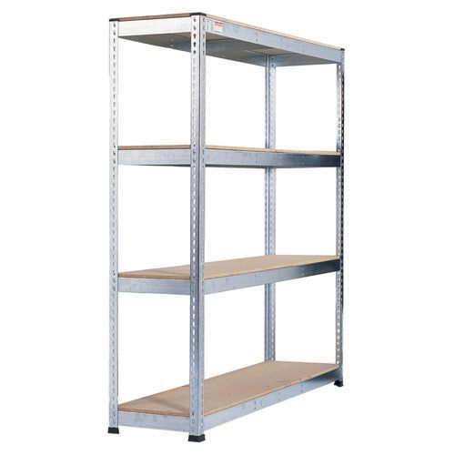 Rapid 1 Heavy Duty Shelving (2400h x 1830w) Galvanized - 4 Chipboard Shelves