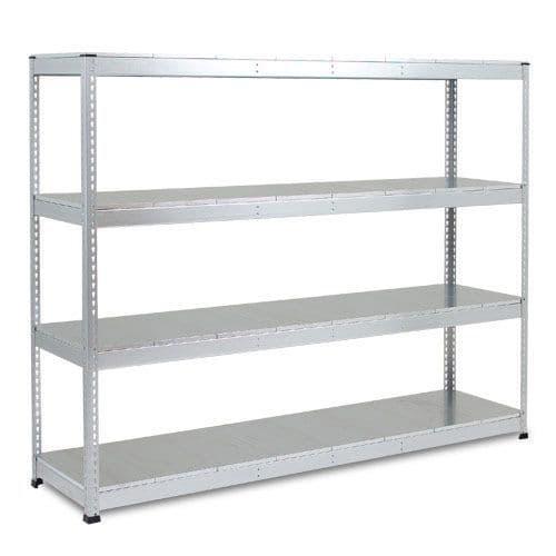 Rapid 1 Heavy Duty Shelving (2400h x 2440w) Galvanized - 4 Galvanized Shelves
