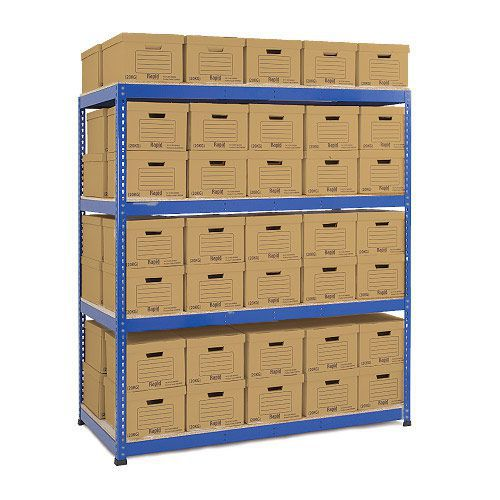 Rapid 1 Double Sided Archive Storage with 70 Boxes