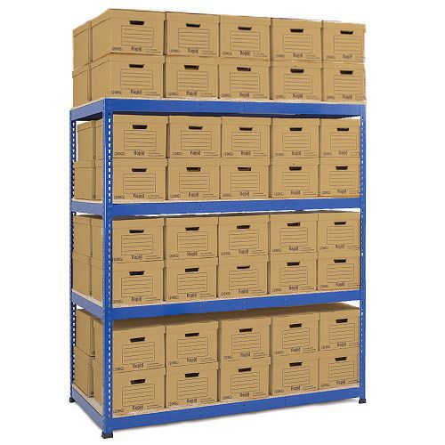Rapid 1 Double Sided Archive Storage with 80 Boxes