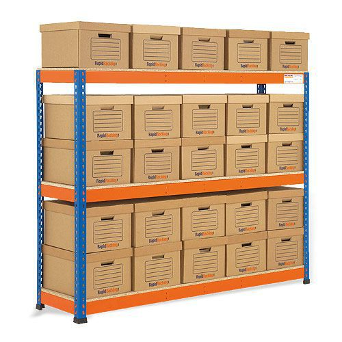 Rapid 1 Single Sided Archive Storage with 25 Boxes
