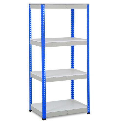 Rapid 1 Shelving (1980h x 915w) Blue & Grey - 4 Melamine Shelves