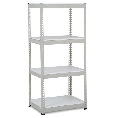 Rapid 1 Shelving (1980h x 915w) Grey - 4 Melamine Shelves