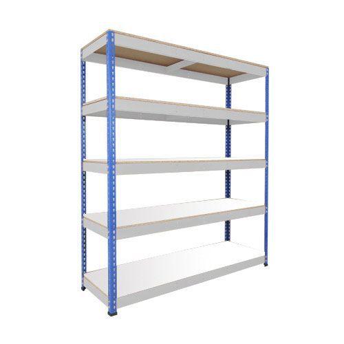 Rapid 1 Shelving (1980h x 1220w) Blue & Grey - 5 Melamine Shelves