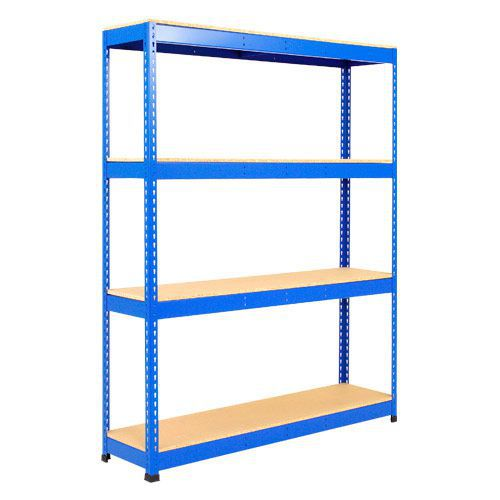 Rapid 1 Shelving (1980h x 1220w) Blue - 4 Chipboard Shelves