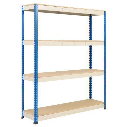 Rapid 1 Shelving (1980h x 1220w) Blue & Grey - 4 Chipboard Shelves