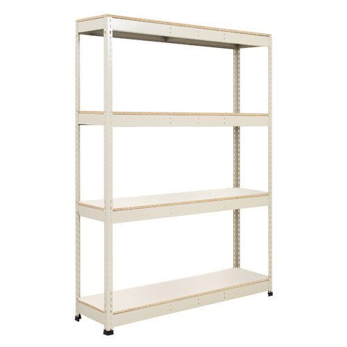 Rapid 1 Shelving (1980h x 1220w) Grey - 4 Melamine Shelves