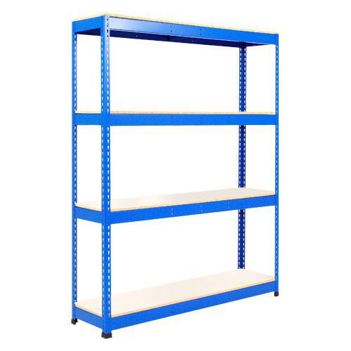 Rapid 1 Shelving (1980h x 1525w) Blue - 4 Melamine Shelves