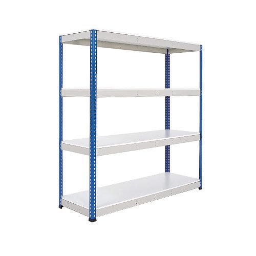 Rapid 1 Shelving (1980h x 1525w) Blue & Grey - 4 Melamine Shelves