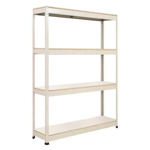 Rapid 1 Shelving (1980h x 1525w) Grey - 4 Melamine Shelves