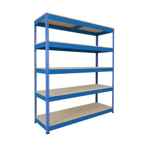 Rapid 1 Shelving (1980h x 1830w) Blue - 5 Chipboard Shelves