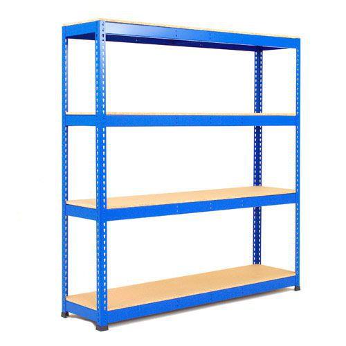 Rapid 1 Shelving (2440h x 1525w) Blue - 4 Chipboard Shelves
