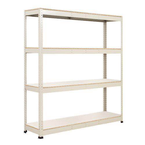 Rapid 1 Shelving (2440h x 1525w) Grey - 4 Melamine Shelves