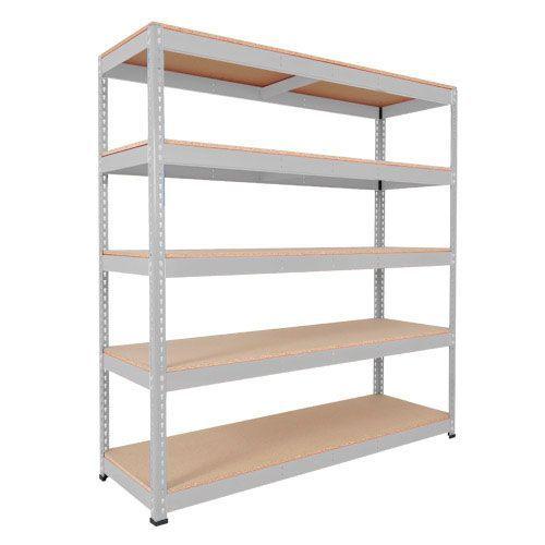 Rapid 1 Shelving (2440h x 1830w) Grey - 5 Chipboard Shelves