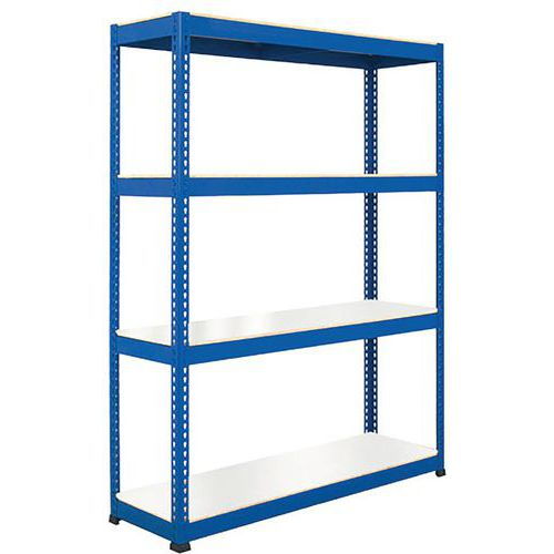 Rapid 1 Shelving (2440h x 1830w) Blue - 4 Melamine Shelves